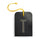 luggage tag DIN black T