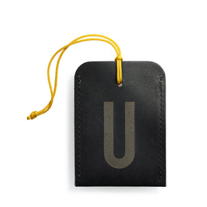 luggage tag DIN black U