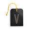 luggage tag DIN black V