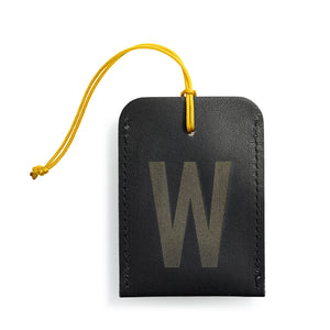 luggage tag DIN black W