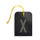 luggage tag DIN black X