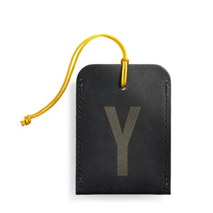 luggage tag DIN black Y