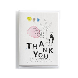 Greeting card Mitte Thank you