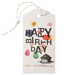 hang tag set Mitte happy birthday