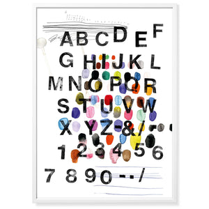 Poster Mitte A-Z & 0-9