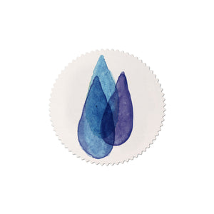 sticker set Mitte blue drop
