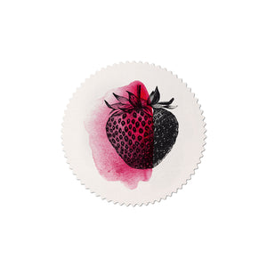 sticker set Mitte strawberry