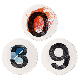 Sticker Set Mitte numbers