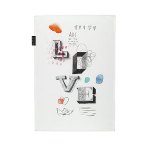 Tea towel Mitte love