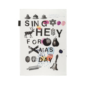 Tea towel Mitte sing hey for X-MAS