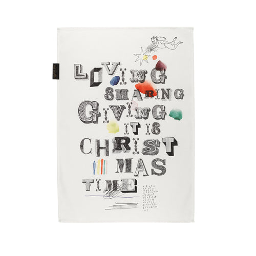 Tea towel Mitte loving sharing it's sharing giving it's christmas time