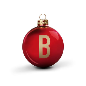 Bauble DIN Glossy Red Alphabet B