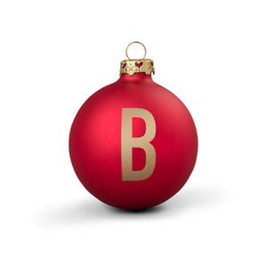 Bauble DIN Matt Red Alphabet B