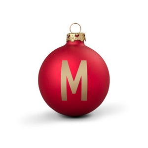 Bauble DIN Matt Red Alphabet M