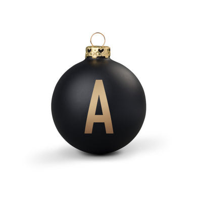 Bauble DIN Matt Black Alphabet A