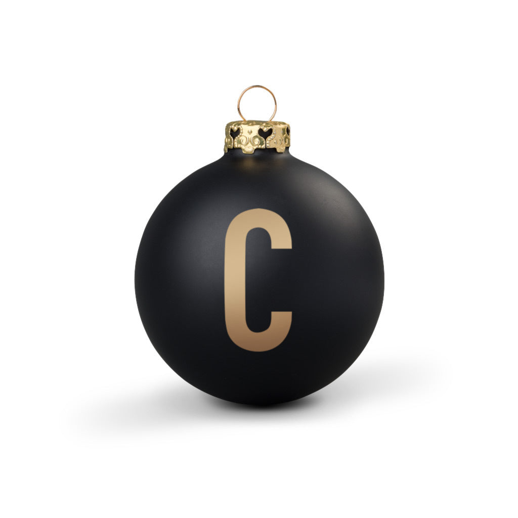 Bauble DIN Matt Black Alphabet C