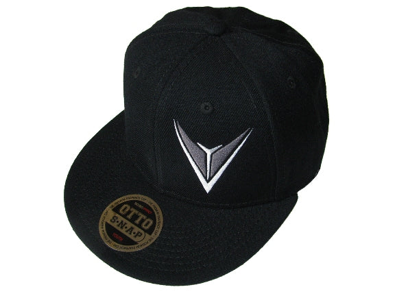 Black Snap Back Hat ADULT