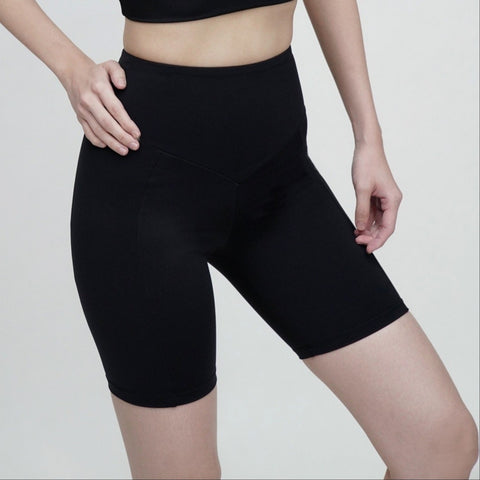 Spin High Waisted Shorts- Black