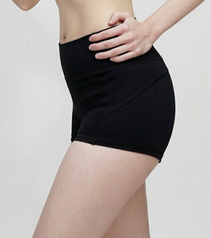 Shorty High Waisted Shorts- Black