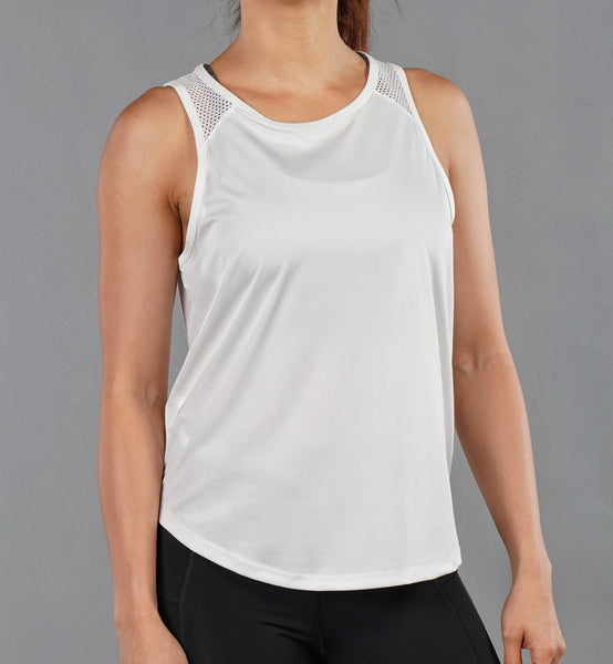 Peek-A-Boo Tank Top - White