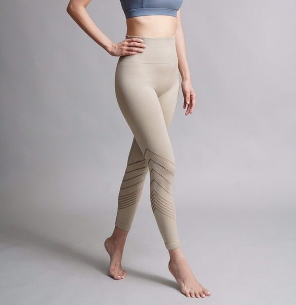 V-Up Leggings - Beige