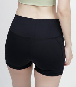 Elevate High Waisted Shorts- Black