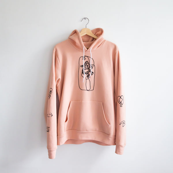 HIPPO CAMPUS x NORMAL PARENTS HOODIE (PINK)