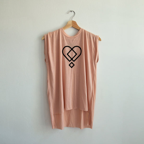 HEART LADIES MUSCLE TEE
