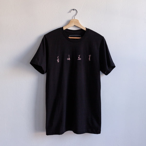 TOUR T-SHIRT (BLACK W/ PEACH PRINT)