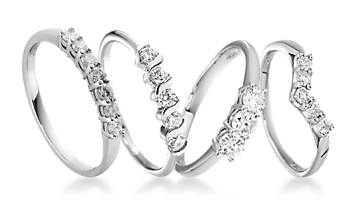 Claw Set Platinum Eternity Rings