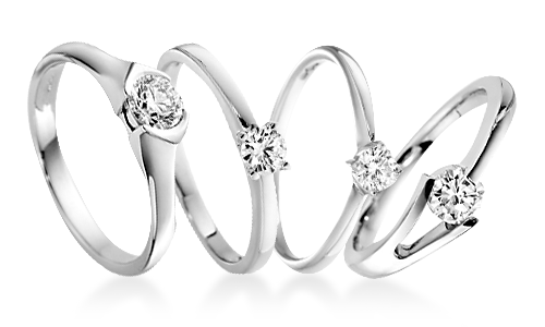 Diamond Solitaire Platinum Engagement Rings