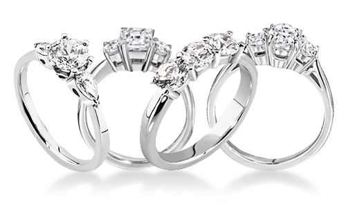Trilogy Platinum Engagement Rings