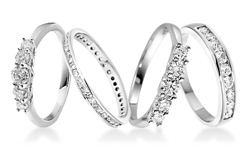 Channel Set Platinum Eternity Rings