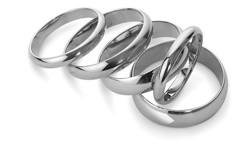 Plain Platinum Wedding Rings