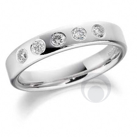 Diamond Platinum Wedding Ring - PRC038P