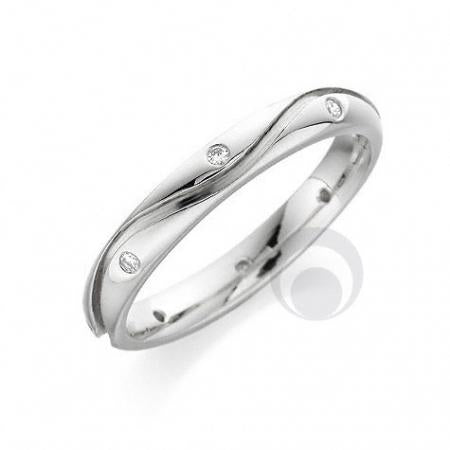 Diamond Platinum Wedding Ring - PRC103P