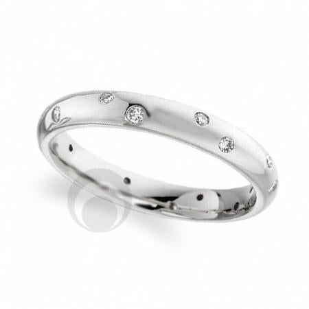 Diamond Platinum Wedding Ring - PRC104P