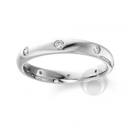 Diamond Platinum Wedding Ring - PRC105-25P