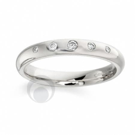 Diamond Platinum Wedding Ring - PRC106P