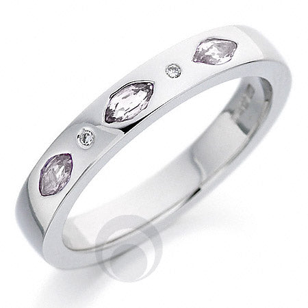 Diamond Platinum Wedding Ring - PRC128P