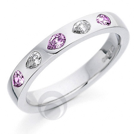 Diamond Platinum Wedding Ring - PRC130PSDP