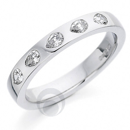Diamond Platinum Wedding Ring - PRC130P
