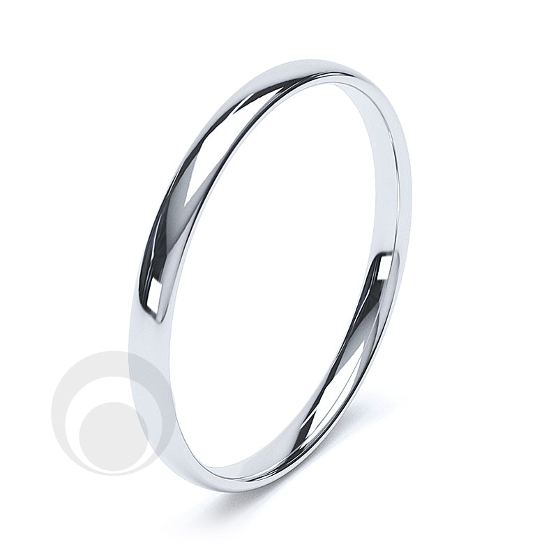 2.5mm Plain Platinum Court Wedding Ring