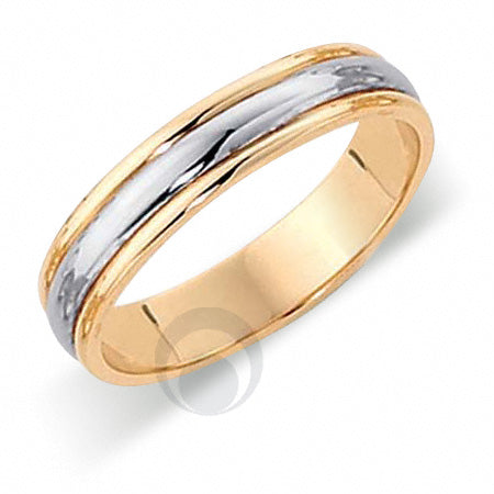 Platinum Wedding Ring Two Colour - FT323-4IP