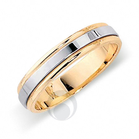 Platinum Wedding Ring Two Colour - FT342-4IP