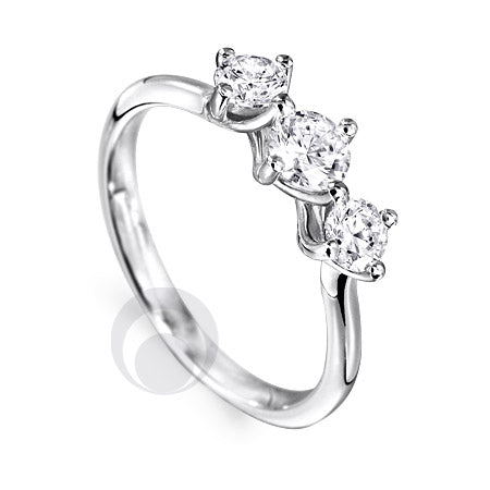 Diamond Platinum Engagement Ring - PRC2001-50Si