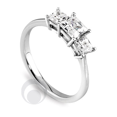 Diamond Platinum Engagement Ring - PRC2002-50Si