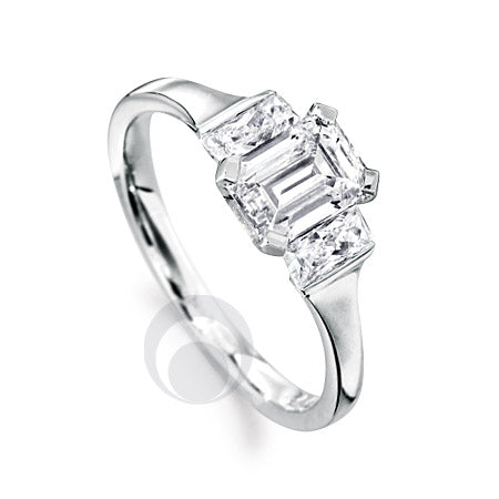 Diamond Platinum Engagement Ring - PRC2003-75Si