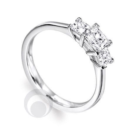 Diamond Platinum Engagement Ring - PRC2004-50Si
