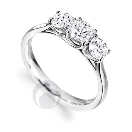 Diamond Platinum Engagement Ring - PRC2006-57Si